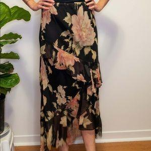 Lauren Ralph Lauren Petite Black floral skirt